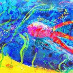 """Child's abstract artwork - """"Underwater world"""""""
